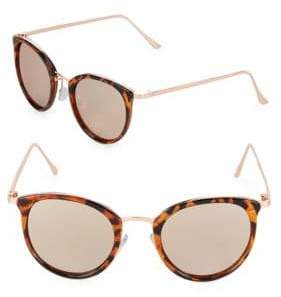 Fantas-Eyes Mirrored 48MM Oval Sunglasses