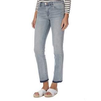 Faded Blue Amelia Mid Rise Straight Leg Stretch Jeans