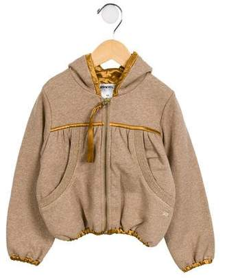 Rykiel Enfant Girls' Hooded Metallic Jacket