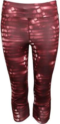 adidas Womens Supernova Climalite All Over Print Capri Leggings Maroon