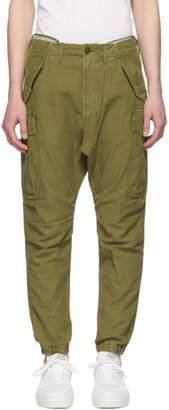 R 13 Green Military Surplus Cargo Pants