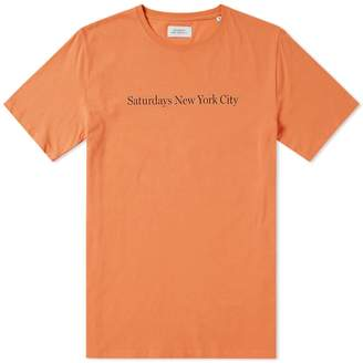 Saturdays NYC Logo Tee