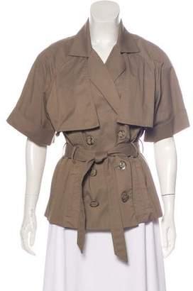 Lela Rose Short Sleeve Trench Coat