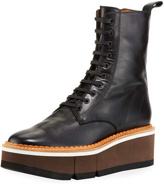 Robert Clergerie Berenice Lace-Up Sneaker Boots