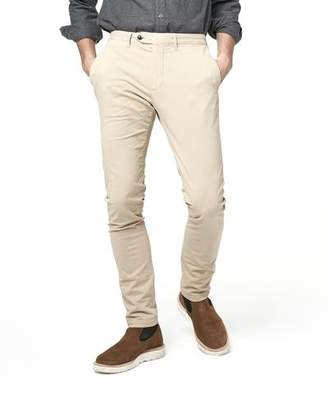 Todd Snyder Extra Slim Fit Tab Front Stretch Chino in Khaki
