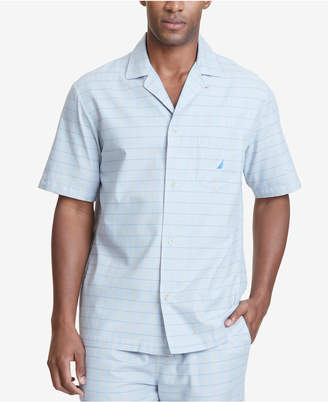Nautica (ノーティカ) - Nautica Men's Windowpane Plaid Cotton Pajama Shirt