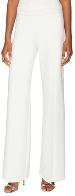 Carolina HerreraSleek Split Cuff Wide Leg Pant