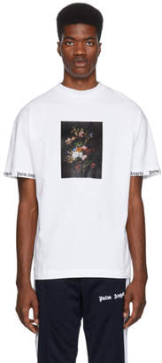 Palm Angels White Flower Pot T-Shirt