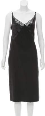 Nina Ricci Lace-Accented Slip Dress