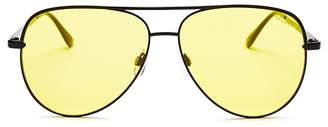 Quay x Desi Sahara Aviator Sunglasses, 62mm $65 thestylecure.com