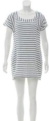 Solid & Striped Short Sleeve Mini Dress