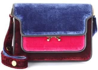 Marni Trunk Mini velvet shoulder bag
