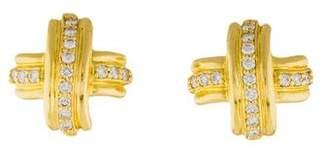 Tiffany & Co. 18K Diamond X Earclips