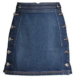 Current/Elliott Women's Ballast Button Denim Skirt
