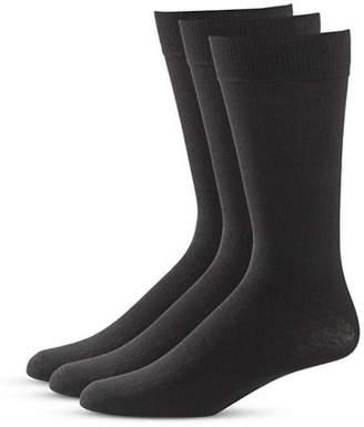 Black Brown 1826 Three-Pack Classic Socks