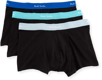 Paul Smith Men's 3-Pack Stretch Trunk Boxer Briefs