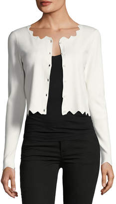 Milly Cropped Pointed Scallop Cardigan