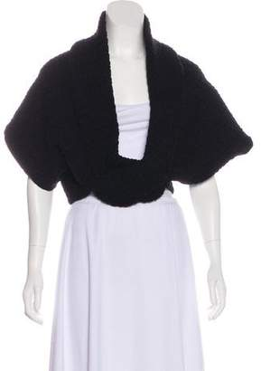 Alaia Textured Heavy Knit Shrug