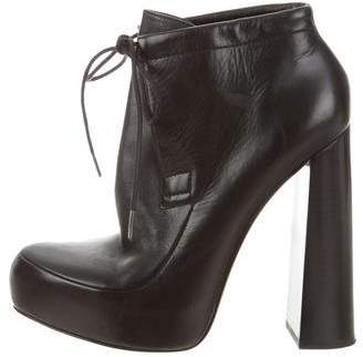 Alexander Wang Lace-Tie Platform Ankle Boots