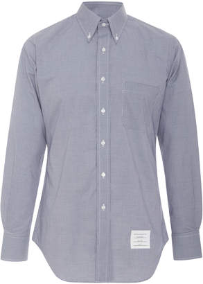Thom Browne Gingham Point Collar Cotton Button Down