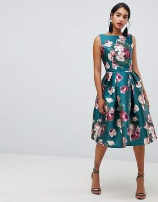 Chi Chi London midi dress in winter floral print