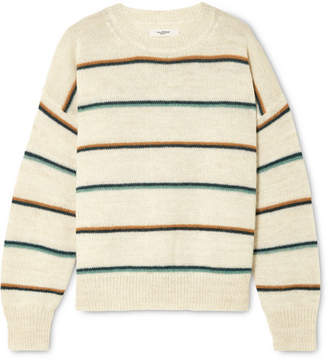 Etoile Isabel Marant Gatlin Striped Alpaca-blend Sweater - Ecru
