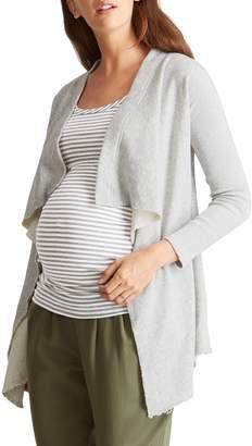 Ingrid & Isabel R) Drape Front Maternity Cardigan