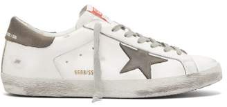 Golden Goose Super Star Low Top Leather Trainers - Mens - Grey White