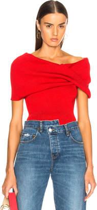 Monse Sleeveless Twist Shawl Sweater