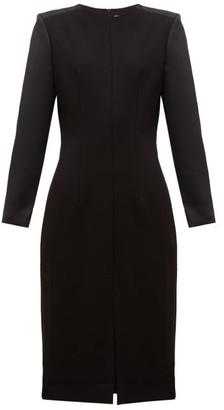 Cefinn - Stretch Ponte Contrast Sleeve Pencil Dress - Womens - Black