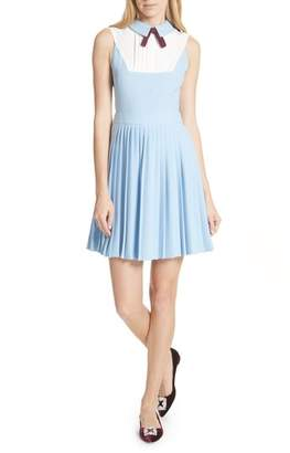 Ted Baker Pleated Fit & Flare Dress