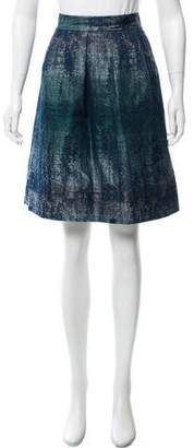 Lela Rose Brocade Knee-Length Skirt