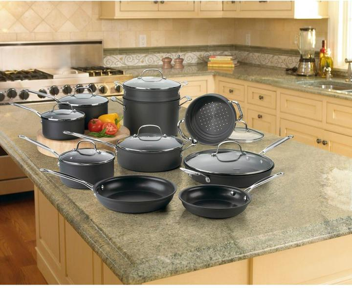 Cuisinart Cuisinart Chef's Classic 17-Piece Non-Stick Hard Anodized Cookware Set