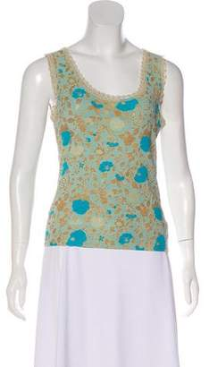 Blumarine Sleeveless Floral Print Top