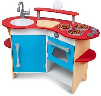 Melissa & Doug - Cook's Corner Wooden Kitchen Playset