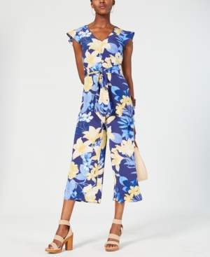 INC International Concepts Inc Floral Tie-Waist Jumpsuit, Created for Macy's