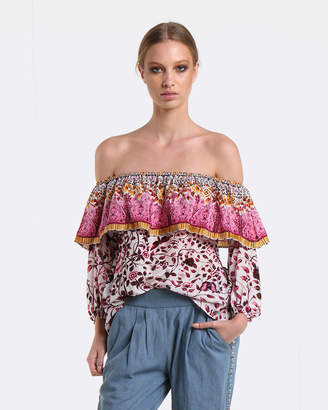 Coco Ribbon Gala Rose Off-The-Shoulder Blouse