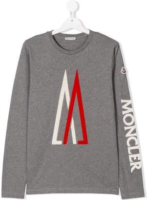 Moncler TEEN logo sleeve T-shirt