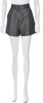Valentino Chambray Mini Shorts