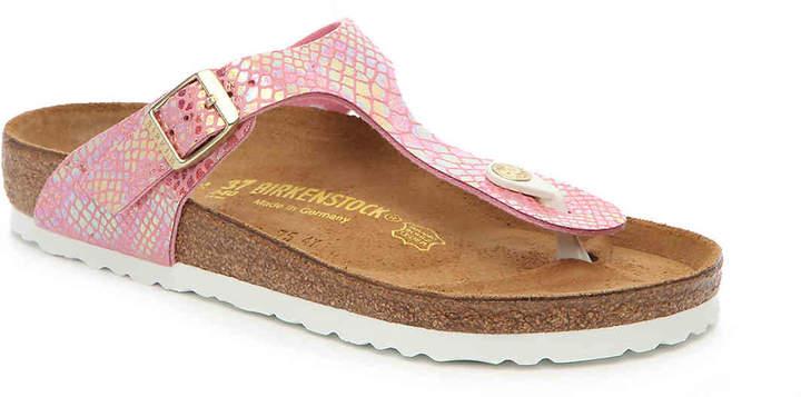 Birkenstock Women's Gizeh Shiny Snake Flat Sandal - Women's's