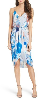 Women's Chelsea28 Print Faux Wrap Dress $148 thestylecure.com