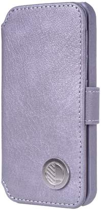Drew Lennox - iPhone Luxury English Leather Phone Wallet with 3 Card Slots in Silver