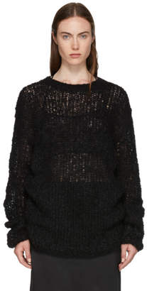 Ann Demeulemeester Black Loose Stitch Knit Sweater