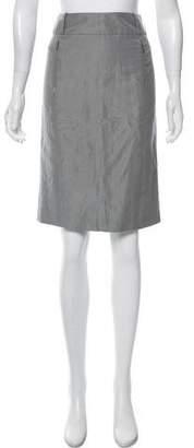 Gucci Knee-Length Silk-Linen Skirt