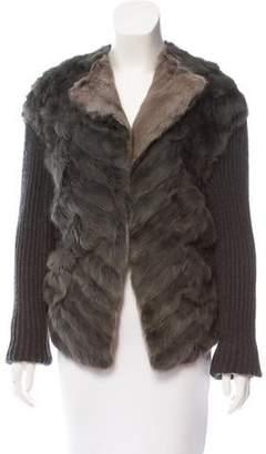 Lanvin Knitted Fur Jacket
