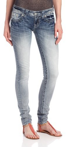 Miss Me Juniors Bold Wing Patch Skinny Jean