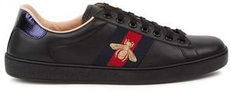 fdc12d0a005 at Harvey Nichols · Gucci New Ace Black Leather Trainers