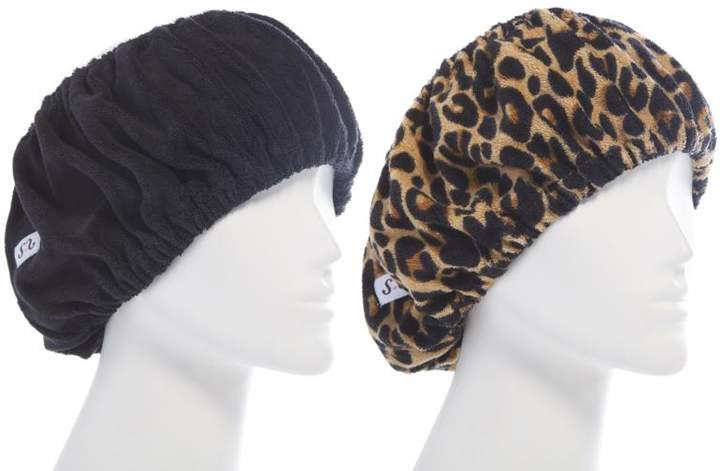 Tassi Hair Holder Duo - Black/Leopard