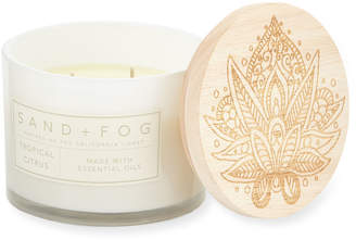 Sand + Fog Tropical Citrus Scented Candle, 12 oz.
