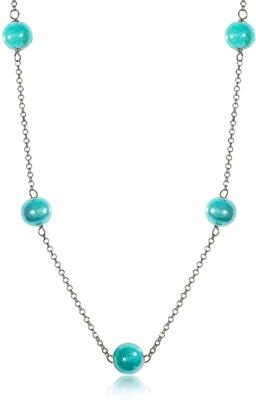 Antica Murrina Perleadi Turquoise Murano Glass Beads Necklace $58 thestylecure.com